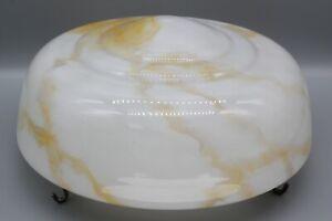Rare Art Deco style glass pendant ceiling light shade flycatcher, white/orange