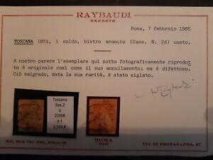 Toscana SASSONE 2. GESTEMPELT GEPRÜFT. Katalogwert 2350,-€