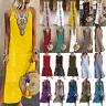 Plus Size Womens Sleeveless Kaftan Long Dress Loose Beach Party Maxi Sundress UK