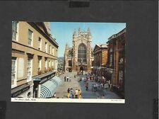 Vintage John Hinde postcard General View The Abbey Bath Avon  unposted