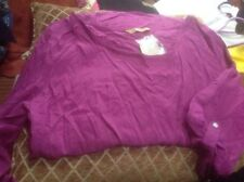 👀👚👀 Ladies UK14 (42) Purple BLOUSE TOP👚 -TU-BNWT