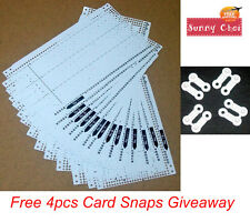 Punch Card Pattern Set For Brother Knitting Machine KH260-KH860 Free Card Snaps