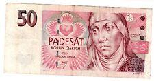Czech RPUBLIC Tcheque REPUBLIQUE Billet 50 KORUN ( 1993 - 1997 ) P17 ST ANEZKA