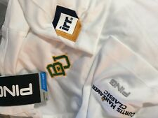 Baylor University  Ping white polyester polo golf shirt men's Large   NWT