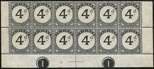 Trinidad & Tobago 4d Postage Due SGD21 Plate 1 block of 12 mint Cat £100
