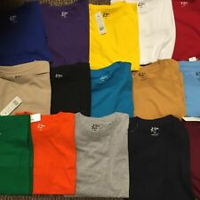 Big & Tall Tee Shirts - Short Sleeve Solid Crew Neck Casual Tops Size 5X to 10X