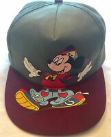 VTG 90s MICKEY MOUSE Snapback Hat Unlimited Mouse Hipster Lightweight Cap Green
