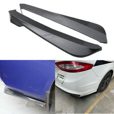 2PC Universal Carbon Style Side Skirt Rocker Splitters Diffuser Winglet Wind