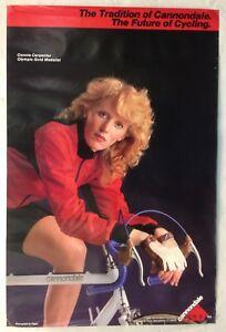 Vintage Original CANNONDALE Connie Carpenter 1986 Poster Women's Cycling