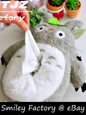 New Super Cute 3D Totoro Plush Tissue Box Cover Soft Touch Car Accessory Gift