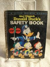 SCARCE! Children's Little Golden Book DONALD DUCK'S SAFETY BOOK 1954