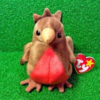MWMT Ty Beanie Baby Early The Red Robin Bird 1997 Retired Plush - FREE Shipping