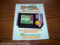 MERIT MEGATOUCH ORIGINAL 1994 VIDEO ARCADE GAME MACHINE PROMO SALES FLYER