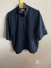 Callaway Golf Mens Medium Short Sleeve Pullover half zip Jacket Blue Bc