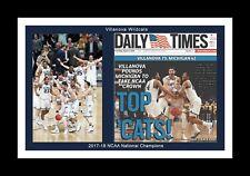 VILLANOVA WILDCATS WIN 2017-18 FINAL 4 MATTED PIC OF NEWSPAPER PAGE @CELEBRATION