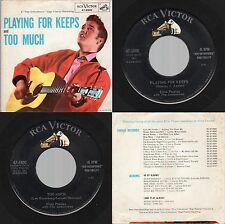 """Elvis Presley """"Too Much / Playing for Keeps"""" RCA Victor 47-6800 1957 Rock"""