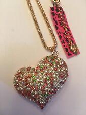 Betsey Johnson Cute fashion mosaic crystal crown pendant necklace-BJ10931
