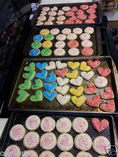 Fresh Homemade HEART CREAM CHEESE BUTTER COOKIES Homemade BUTTERCREAM FROSTING