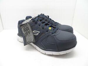 Skechers Work Men's Synergy Ekron Alloy Toe Work Shoe 77A77068 Navy 8M