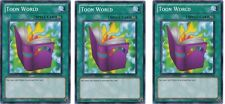 Toon world  GLD4-EN036 X 3 1st YuGiOh - Gold Series 4: Pyramids Edition