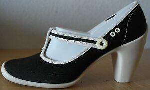 Exclusiv*Lacoste Damenschuhe Leinen Pumps Plateau Schuhe Damen schwarz NEU EDEL