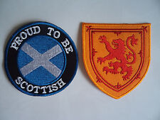 Proud To Be Scottish Rampant Lion Patches Sew On / Iron On Scotland Patch Rugby