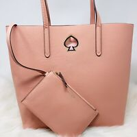 NWT SPECIALTY Kate Spade Suzy Large NS Leather Tote Handbag Cosmetic Pink