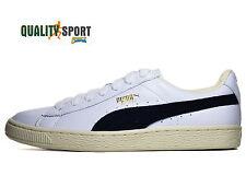 Puma Basket Classic Bianco Nero Uomo Scarpe Sportive Sneakers 351912 03