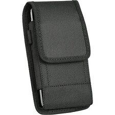 LG G Stylo 2 LS775 ,Large Nylon Canvas Pouch Case Holster Belt Clip + Hook