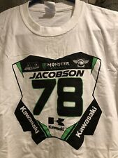 Kawasaki Monster Energy Team issue T-shirt L Jacobson #78 #1number plate t-shirt