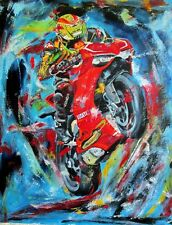 "Ducati motorcycle  print art  matted 16"" x 20"""