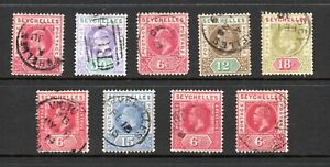 Seychelles, a small used selection (2), G/FU, 1903 - 22