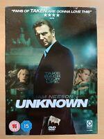Unknown DVD 2011 Liam Neeson Stolen Identity Mystery Thriller Movie w/ Slipcover