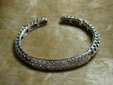 Silver & Rhinestone Bracelet, Sleek and Elegant