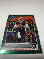 2020 Donruss Optic JOE BURROW Rated Rookie RC GREEN VELOCITY LASER PRIZM #151