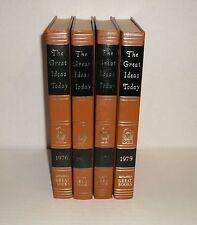 THE GREAT IDEAS TODAY GB BRITANICA GREAT BOOKS SET OF 4 : 1976 1977 1978 1979