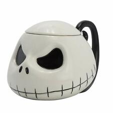 OFFICIAL NIGHTMARE BEFORE CHRISTMAS JACK 3D COFFEE MUG CUP WITH LID IN GIFT BOX