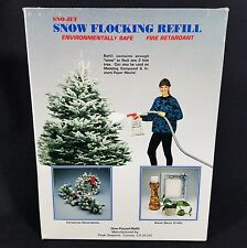 Sno Jet Flock Christmas Tree Snow Flocking 1lb refill Paper Mache Compound