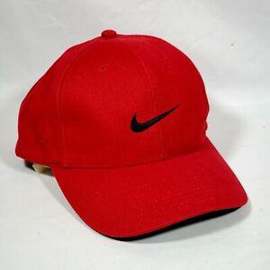 Nike Black Logo Red Baseball Golf Hat Cap. One Size Fits All