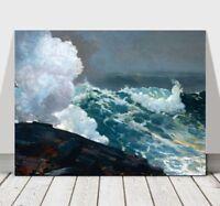 """WINSLOW HOMER - Northeaster - CANVAS ART PRINT POSTER - Ocean Waves - 10x8"""""""