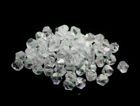 1000 Kunststoff Perlen Crystal Bicone 4mm Acryl Doppelkegel Schmuck Basteln D810