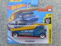 Hot Wheels 2018 #075/365 THE EMBOSSER blue and yellow Experimotors