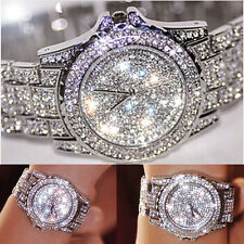 Diamond Women Watch Steel Luxury Ladies Crystal Rhinestone Quartz Wrist Watch AU