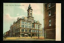 Alabama Al postcard Birmingham, City Hall Dentistry Ad Meeting message back