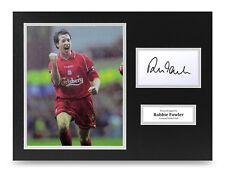 Robbie Fowler Signed 16x12 Photo Display Liverpool Autograph Memorabilia COA