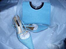 Jacques Vert zapatos EU 38. Reino Unido 5 & Juego De Mano/Bolso De Hombro AQUA Gama