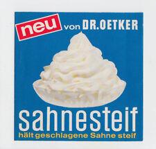 Dr. Oetker Faltblatt Sahnesteif - Neu von Dr. Oetker 1967 Zeichnungen Rezepte