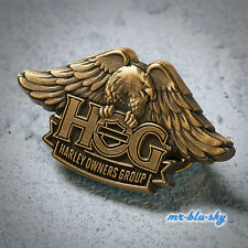 Brass H.O.G. Eagle Pin ~ Harley Davidson Owners Group HOG