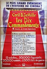 LES 10 COMMANDEMENTS * Cecil B. De MILLE * C. HESTON * Y. BRYNER * 160 x 240 cm