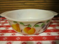 Vintage Fire King Glass Casserole Dish ~ Gay Fad ~ 1.5 Qt ~ Oven Ware ~ #447